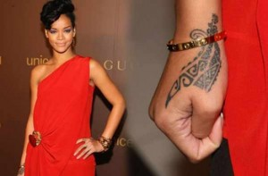 Rihanna Maori Tattoo on Wrist