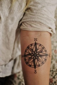 Compass Tattoo on Forearm