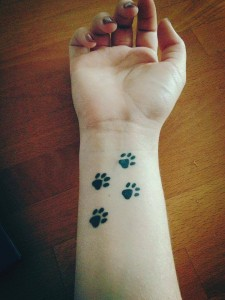 Cute Paws Wrist Tattoo