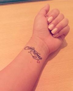 Wrist Tattoo… Strong Love
