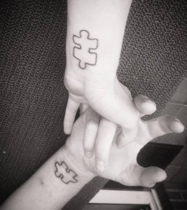 Puzzle Wrist Piece Tattoo