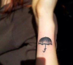Umbrella Wrist Tattoo