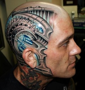 Robotic Head Tattoo
