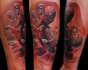 Voodoo Rag Doll Tattoo