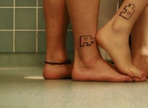 Jig-Saw Puzzle Tattoo for Couples