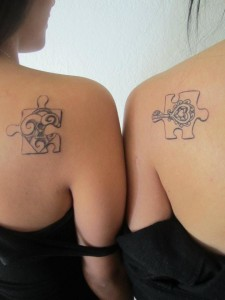 Best Friends Puzzle Tattoo for Girls