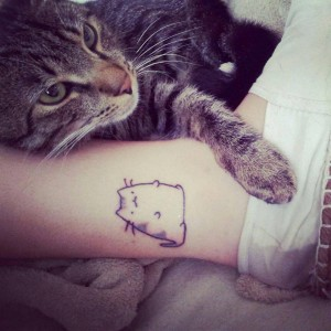 Cute Chubby Cat Tattoo