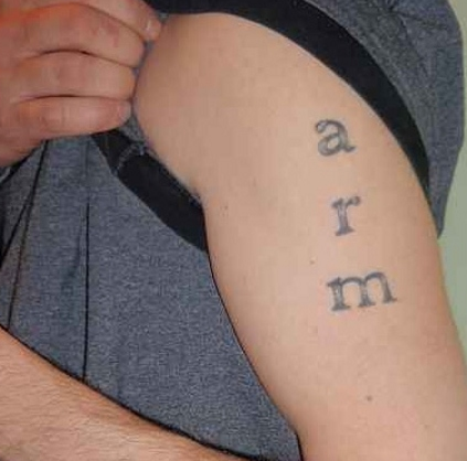 Funny Arm Tattoo