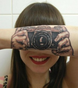 Funny Camera Arm Tattoo