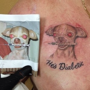 Diabetic Chihuahua Dog Tattoo