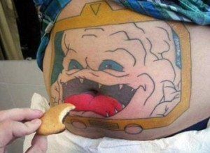 Funny Krang Tattoo from TMNT