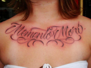 Memento Mori Chest Piece Tattoo