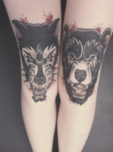 Big Bad Wolf tattoo
