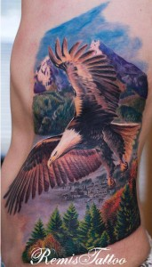 Flying Eagle Tattoo