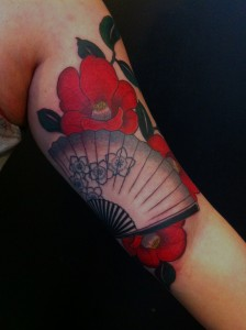 Asian Fan Tattoo
