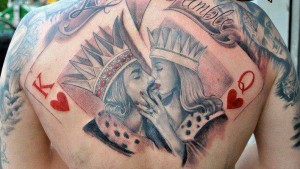 King and Queen Royal kiss Tattoo