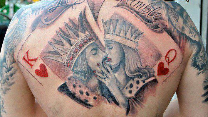 King and Queen Card Tattoo Designs