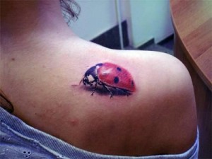 3D Lady Bug Tattoo