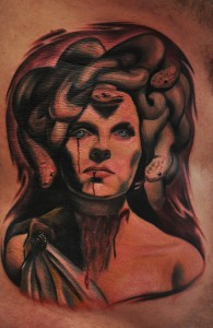 Medusa Snake Face Tattoo