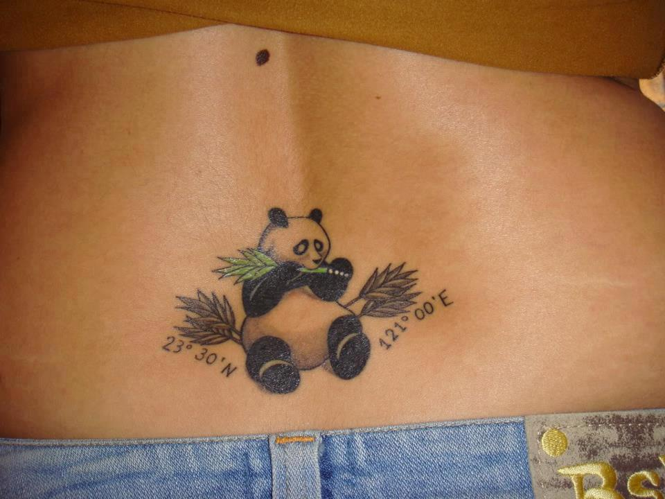 Cute Panda Eating Bambootattoo Cool Tattoos Online