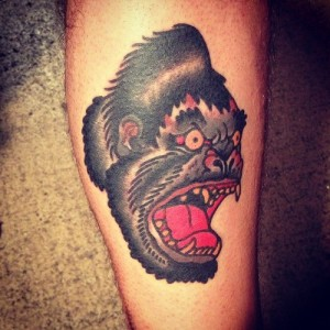 Scary Ape Tattoo