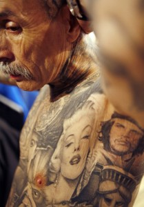 Tattoo on Old Man
