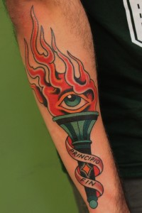 Burning Torch Tattoo