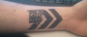 Cool Bar-code Tattoo on Forearm