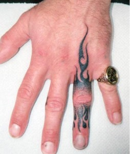 Awesome Ring Finger Tattoo