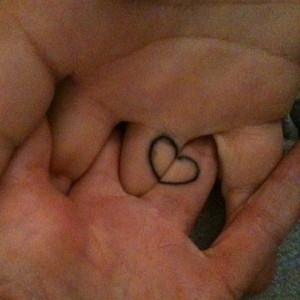 Cute Heart Shape Tattoo for Hands