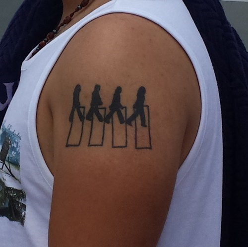 The Beatles Abbey Road Tribute Tattoo