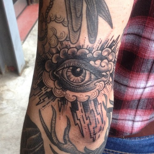 The Eye With Cloud Tattoo