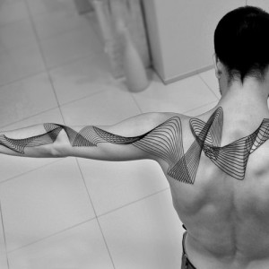 Geometric Lines Tattoo on Arm