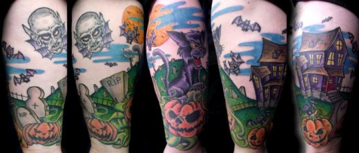 Halloween Tattoo in Color