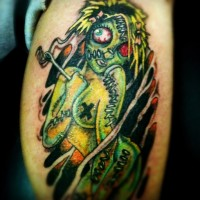Cool Ragdoll Zombie Tattoo