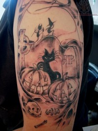 Cool Halloween Tattoo
