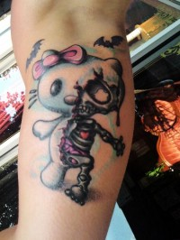 Hello Kitty Death Halloween Tattoo