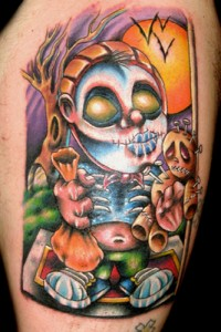 Halloween Trick or Treating Tattoo