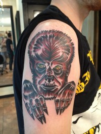 Werewolf monster tat on arm