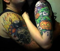 Couples Halloween Tattoos