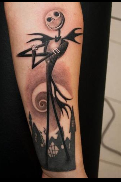 Cool Jack Skellington Halloween Tattoo