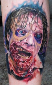 Awesome Halloween Zombie Tattoo