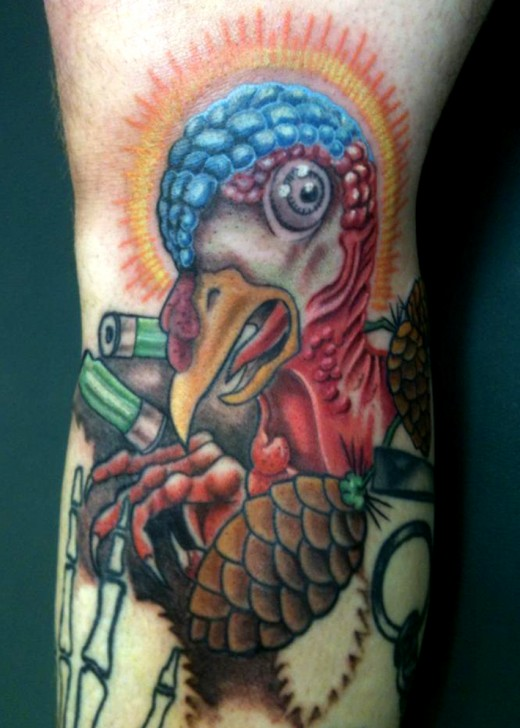 Awesome Turkey Color Tattoo